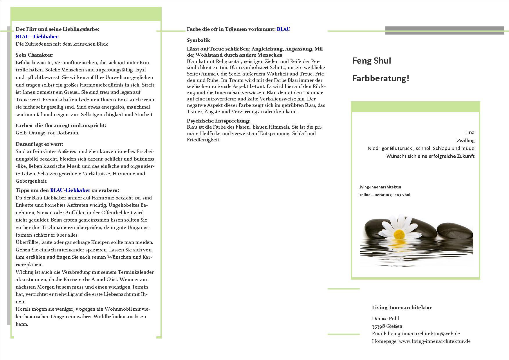 Online-Beratungen Flyer-Vorlagen - Living-Innenarchitektur